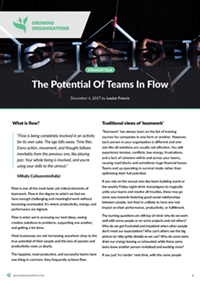 The Potential Of Teams In Flow