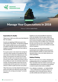 Manage Your Expectations in 2018