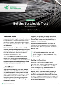 Building Sustainable Trust