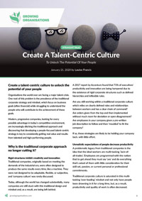 Create A Talent-Centric Culture