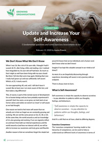 Update and Increase Your Self-Awareness